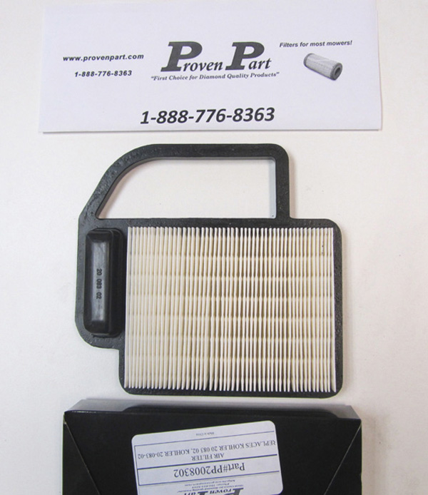 PROVENPART KOHLER 2008302S COMPATIBLE AIR FILTER