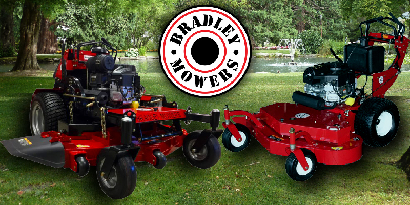 An image showcasing an SC and WT Model. Two of Bradley's most popular mowers