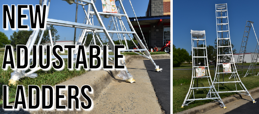 The all new adjustable ladder with three height adjusting legs