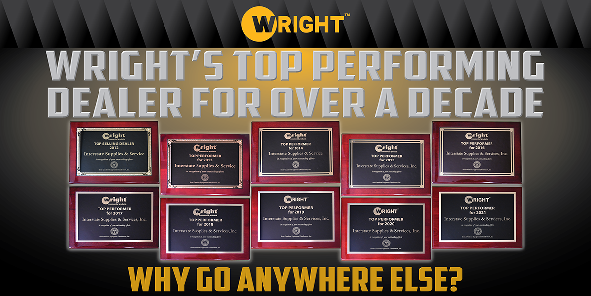 a banner that displays our 10 Wright Top Dealer Plaques
