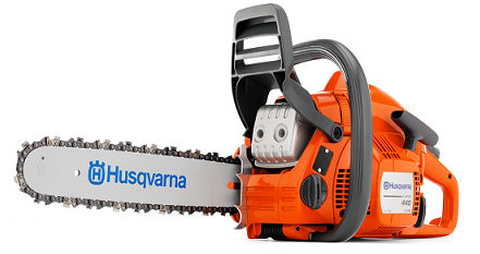 "440e 18"" .325 pitch .050 ga 40.9cc tool-less tensioning chainsaw"