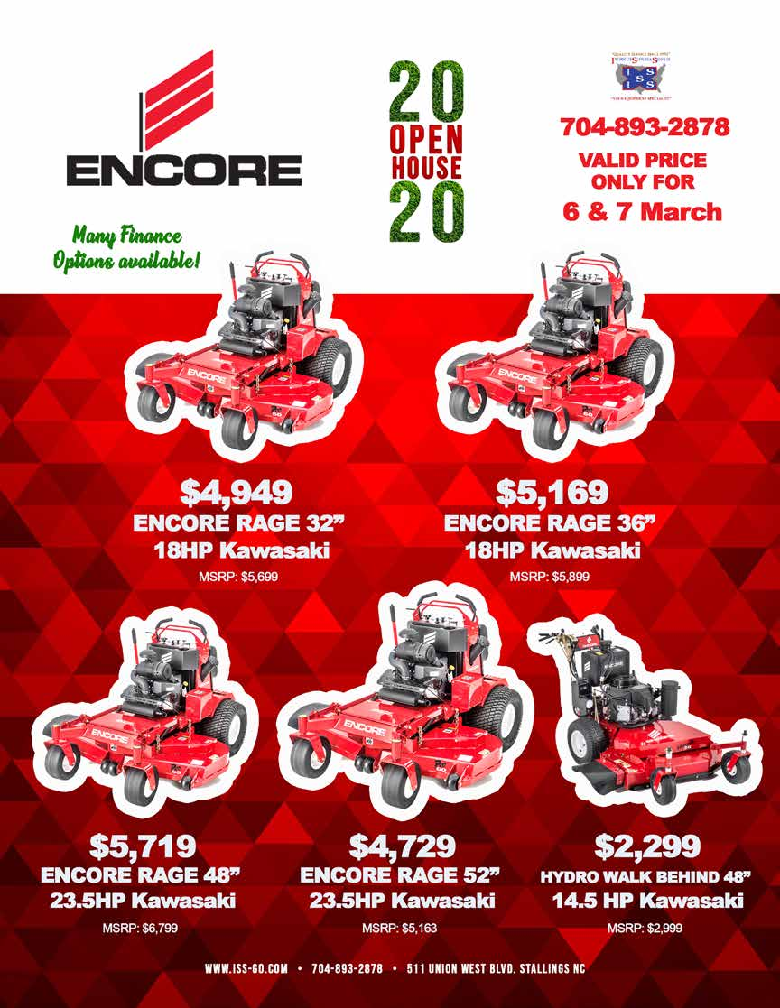 Encore mowers discounted
