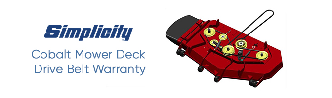 Simplicity Deck Drive Belt Warranty